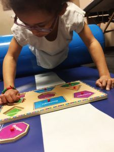 ABC Pediatric Therapy Learning sizes and shapes
