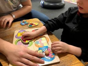 ABC Pediatric Therapy Matching puzzle pieces